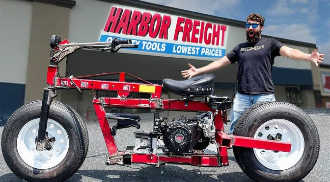 These Guys Built a Motorcycle Out Of Harbor Freight Parts