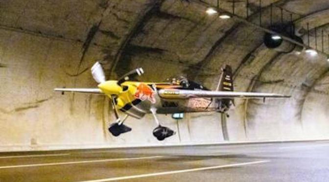 Airplane Flies Through Tunnel at 150 MPH
